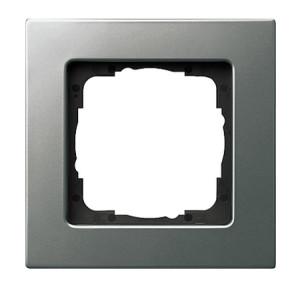Рамка, сталь, монтаж заподлицо Gira E22