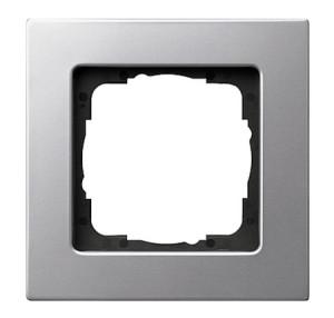 Рамка, алюминий, монтаж заподлицо Gira E22