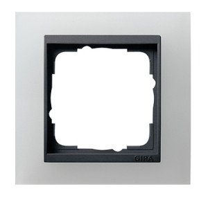 Рамка, белая полупрозрачная с черной вставкой Gira Event