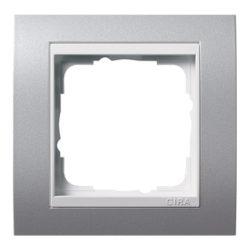 Рамка, алюминий с белой вставкой Gira Event