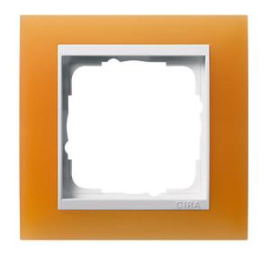 Рамка, оранжевая с белой вставкой Gira Event