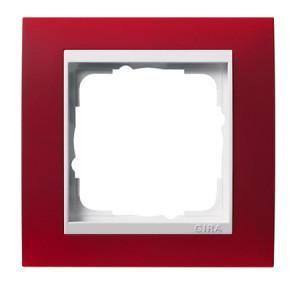 Рамка, красная с белой вставкой Gira Event