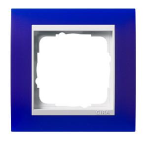 Рамка, синяя с белой вставкой Gira Event