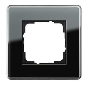 Рамка, черное стекло Gira Esprit Glass C