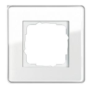 Рамка, белое стекло Gira Esprit Glass C
