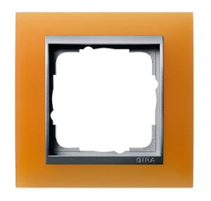 Рамка, оранжевая со вставкой под алюминий Gira Event