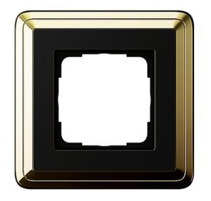 Рамка, латунь/черный Gira ClassiX