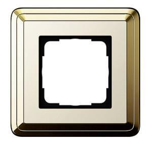 Рамка, латунь/кремовый Gira ClassiX