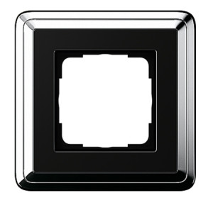 Рамка, хром/черный Gira ClassiX