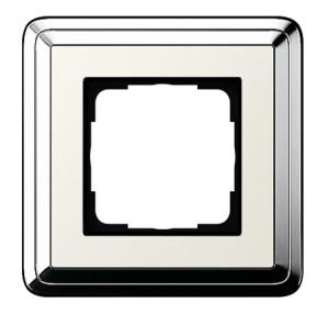 Рамка, хром/кремовый Gira ClassiX
