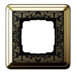 Рамка, латунь/черный Gira ClassiX Art