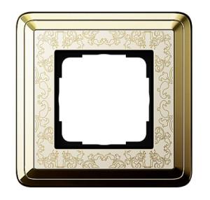 Рамка, латунь/кремовый Gira ClassiX Art