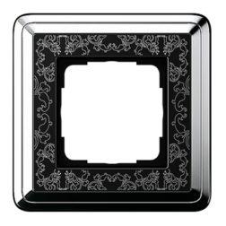 Рамка, хром/черный Gira ClassiX Art