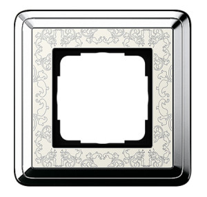 Рамка, хром/кремовый Gira ClassiX Art