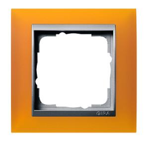 Рамка, янтарная со вставкой под алюминий Gira Event