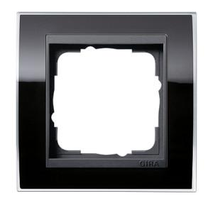 Рамка, черная с черной вставкой Gira Event Clear