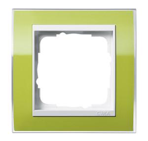 Рамка, зеленая с белой вставкой Gira Event Clear