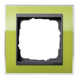 Рамка, зеленая с черной вставкой Gira Event Clear