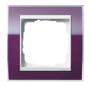 Рамка, фиолетовая с белой вставкой Gira Event Clear