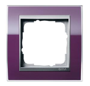 Рамка, фиолетовые со вставкой под алюминий Gira Event Clear