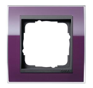 Рамка, фиолетовая с черной вставкой Gira Event Clear