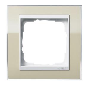Рамка, песочная с белой вставкой Gira Event Clea