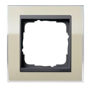 Рамка, песочная с черной вставкойGira Event Clear