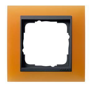 Рамка, оранжевая с черной вставкой Gira Event