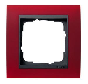 Рамка, красная с черной вставкой Gira Event
