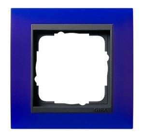 Рамка, синяя с черной вставкой Gira Event