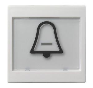 """Клавиша с полем для надписи 37*47 мм и символом """"звонок"""" белый матовый Gira"""