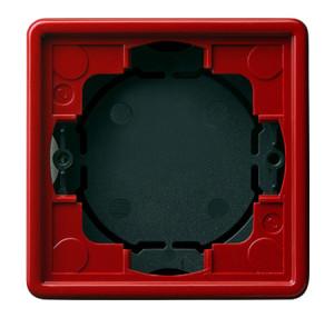 Рамка, красная для открытого монтажа 2 Gira S-color
