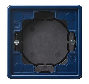 Рамка, синяя для открытого монтажа 2 Gira S-color