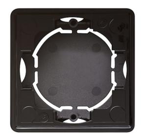 Рамка, черная для открытого монтажа 2 Gira S-color