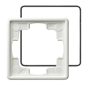 Рамка, белая с уплотнительной вставкой Gira S-color
