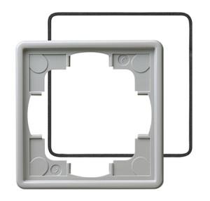 Рамка, серая с уплотнительной вставкой Gira S-color
