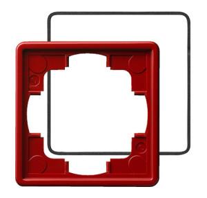 Рамка, красная с уплотнительной вставкой Gira S-color