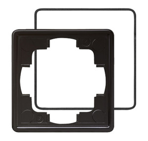 Рамка, черная с уплотнительной вставкой Gira S-color