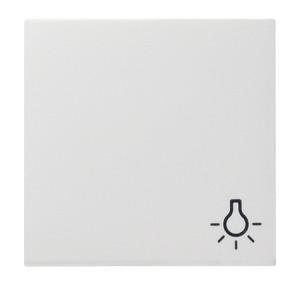 """Клавиша с символом """"свет"""" белый глянец Gira"""