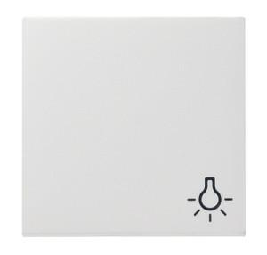 """Клавиша с символом """"свет"""" белый матовый Gira"""