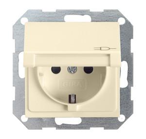 Розетка c заземляющими контактами, крышкой, с защитой от детей и пиктограммой Gira