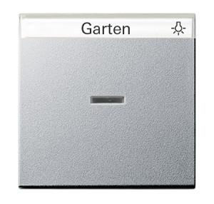 Одинарная клавиша с полем для надписи и подсветкой Gira