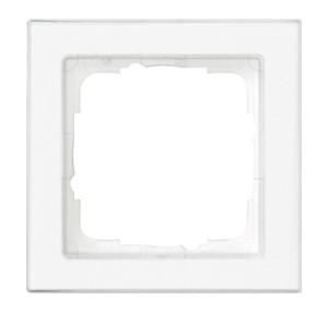 Рамка с полем для надписи, белая глянец Gira E2