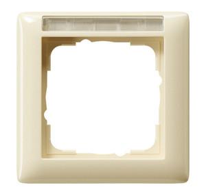 Рамка с полем для надписи, кремовая глянец Gira Standart 55
