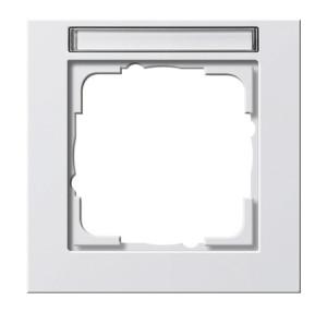 Рамка с полем для надписи, белая матовая Gira E2