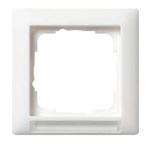 Рамка с полем для надписи, белая матовая Gira Standart 55