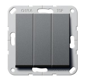 """Выключатель """"Британский стандарт"""" 3-х клавишный, ВКЛ.ОТКЛ. Gira"""