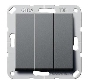 Клавишный выключатель. Переключатель 3-клавишный Gira