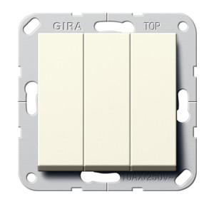 Выключатель 3-клавишный (кнопочный) с винт. Клеммами Gira