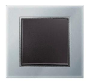 Стеклянная рамка, цвет: алюминиевый B.7 Glas Berker